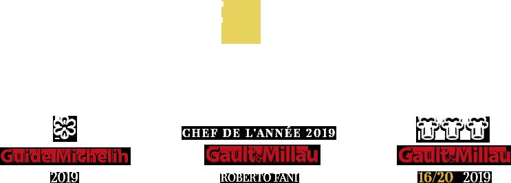 Distinctions Gault et Millau + Etoile Michelin